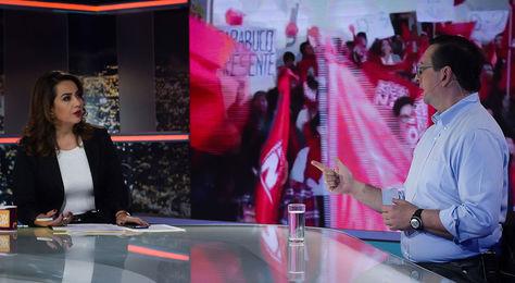 Ortiz durante la entrevista a la revista nocturna Que No Me Pierda de la red UNO.