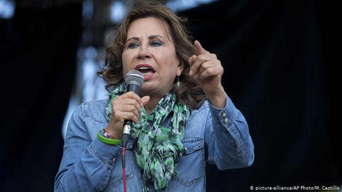 Guatemala Präsidentschaftskandidatin Sandra Torres (picture-alliance/AP Photo/M. Castillo)