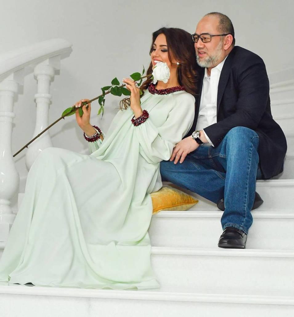 Petra Rihana y el exrey de Malasia, en una foto del Instagram de ella.