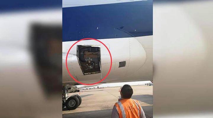 Avión de BOA pierde parte de su fuselaje en pleno vuelo