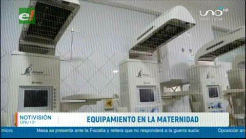 Gobernación adquiere equipos para la Maternidad de Santa Cruz valuados en Bs 8 millones