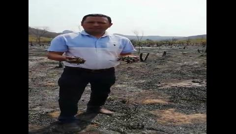 Diputado Dorado entregó alimentos a los afectados por los incendios en Taperas
