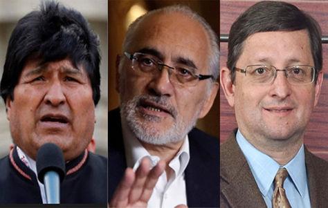 Morales, Mesa y Ortiz, los candidatos que ocupan los tres primeros puestos en las encuestas.