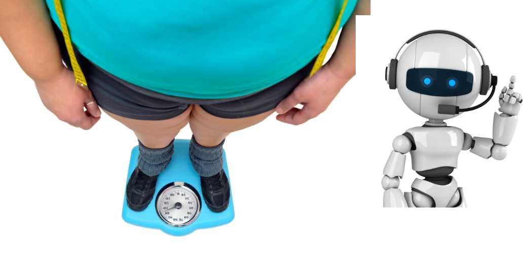 obeso con robot