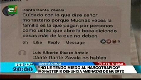 Monasterio denuncia amenazas de muerte y responsabiliza de cualquier hecho a Evo Morales y Carlos Romero
