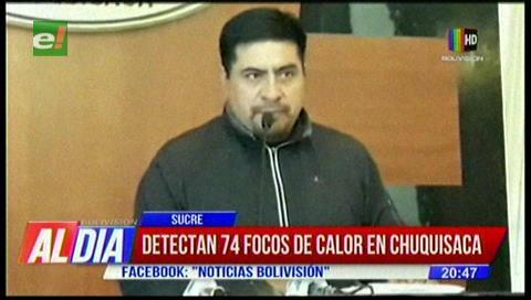 Reportan 74 focos de calor en Chuquisaca