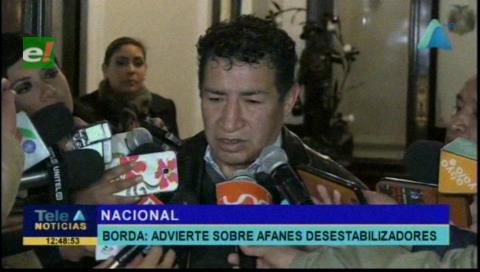 Presidente de Diputados califica como «atentado» a la democracia hechos vandálicos en Santa Cruz