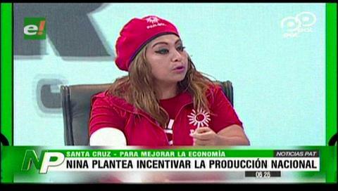 Ruth Nina presentó sus propuestas en el Poder del Voto