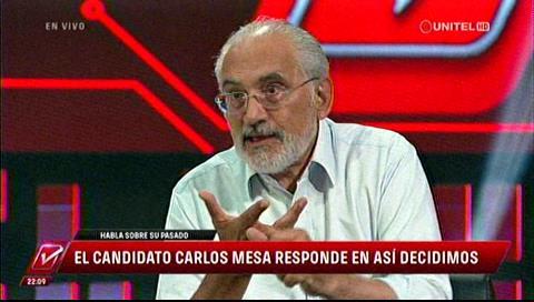 Carlos Mesa le recordó a su entrevistadora Gabriela Oviedo que ella fue Miss Bolivia