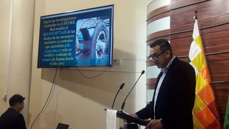 Senador Núñez denuncia que BoA gastó más recursos en catering que en seguridad de pasajeros