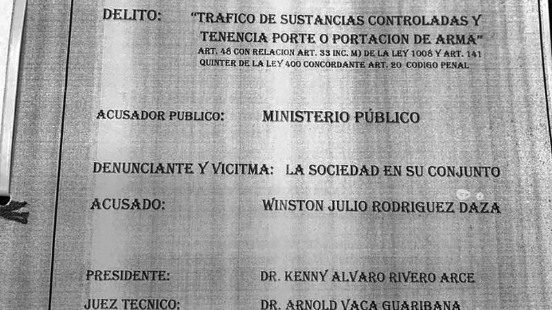 En 2018 procesaron al padre de Rodríguez por 205 kg de droga