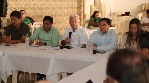 Reunión de autoridades de los diferentes niveles de gobierno en San Ignacio de Velasco. Foto:Gobernación cruceña