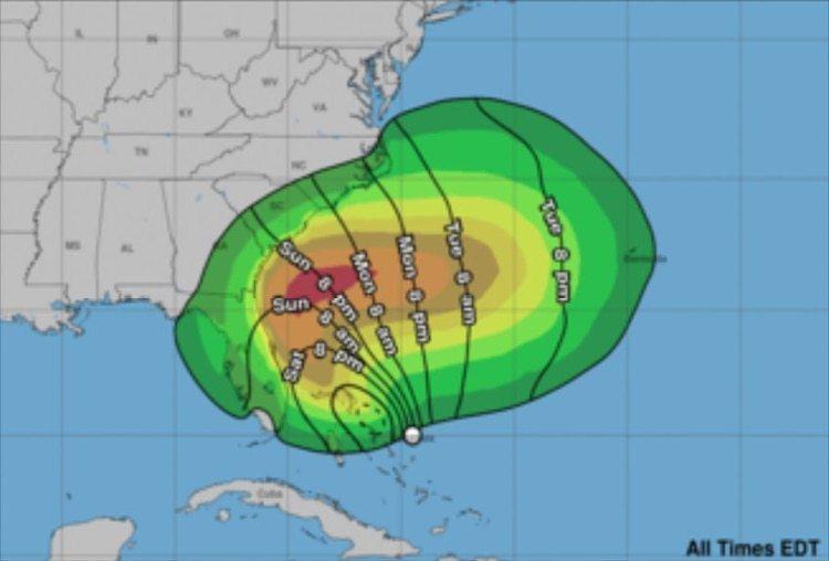 No se espera que el sistema produzca marejada ciclónica significativa en el noroeste de las Bahamas, dijo el NHC (Foto: Centro Nacional de Huracanes)