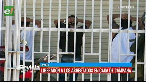 Liberan a los arrestados de la casa de campaña de BDN