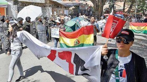 Una movilización en Tarija contra la repostulación del presidente Evo Morales.