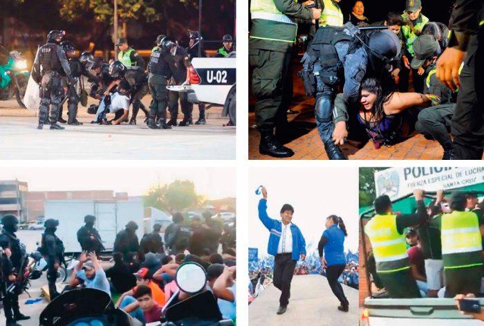 REGISTRO DE ENFRENTAMIENTOS EN INMEDIACIONES DEL CAMBÓDROMO, MIENTRAS MORALES BAILABA.