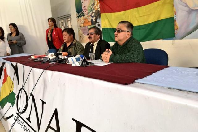 El Conade sospecha de fraude, llama a un cabildo nacional y advierte que puede haber una guerra civil en Bolivia