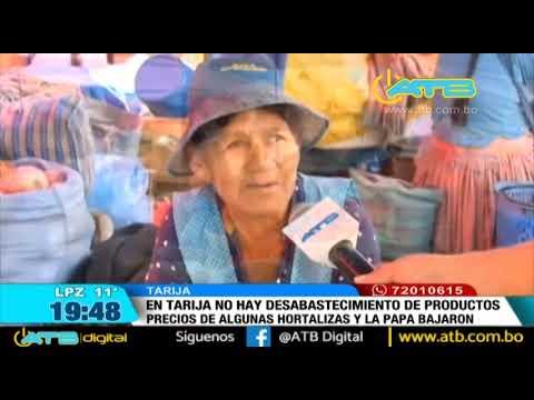 Abastecimiento en los mercados de Tarija es normal - eju.tv