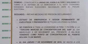 #Último#ANFLa Fejuve de El Alto contestataria convocó a…