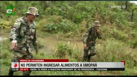 Policías denuncian que cocaleros del Chapare no les permiten proveerse de alimentos
