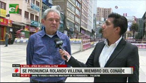 Rolando Villena llama al pueblo a continuar movilización patriótica y pacífica