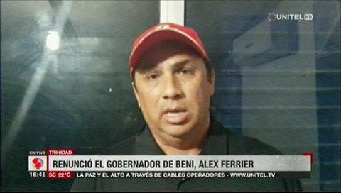 Renunció el gobernador de Beni Alex Ferrier