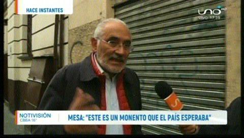Mesa: «Mañana Bolivia será un nuevo país»