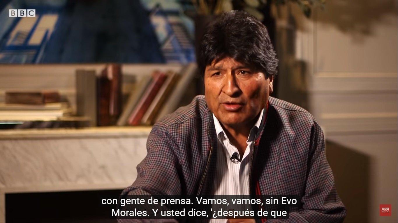 Evo Morales, intolerante, soberbio y malcriado ante periodista de BBC Mundo