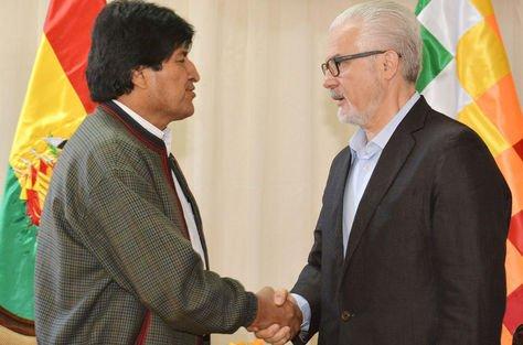 Evo Morales y Baltasar Garzón, en un encuentro en 2015.
