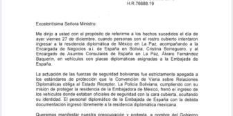 Protesta de Cancillería a Embajada del Reino de España – Protesta de Cancillería a Embajada del…