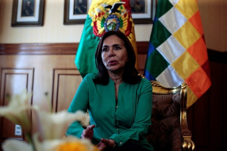 Karen Longaric, canciller de Bolivia (REUTERS/Manuel Claure)