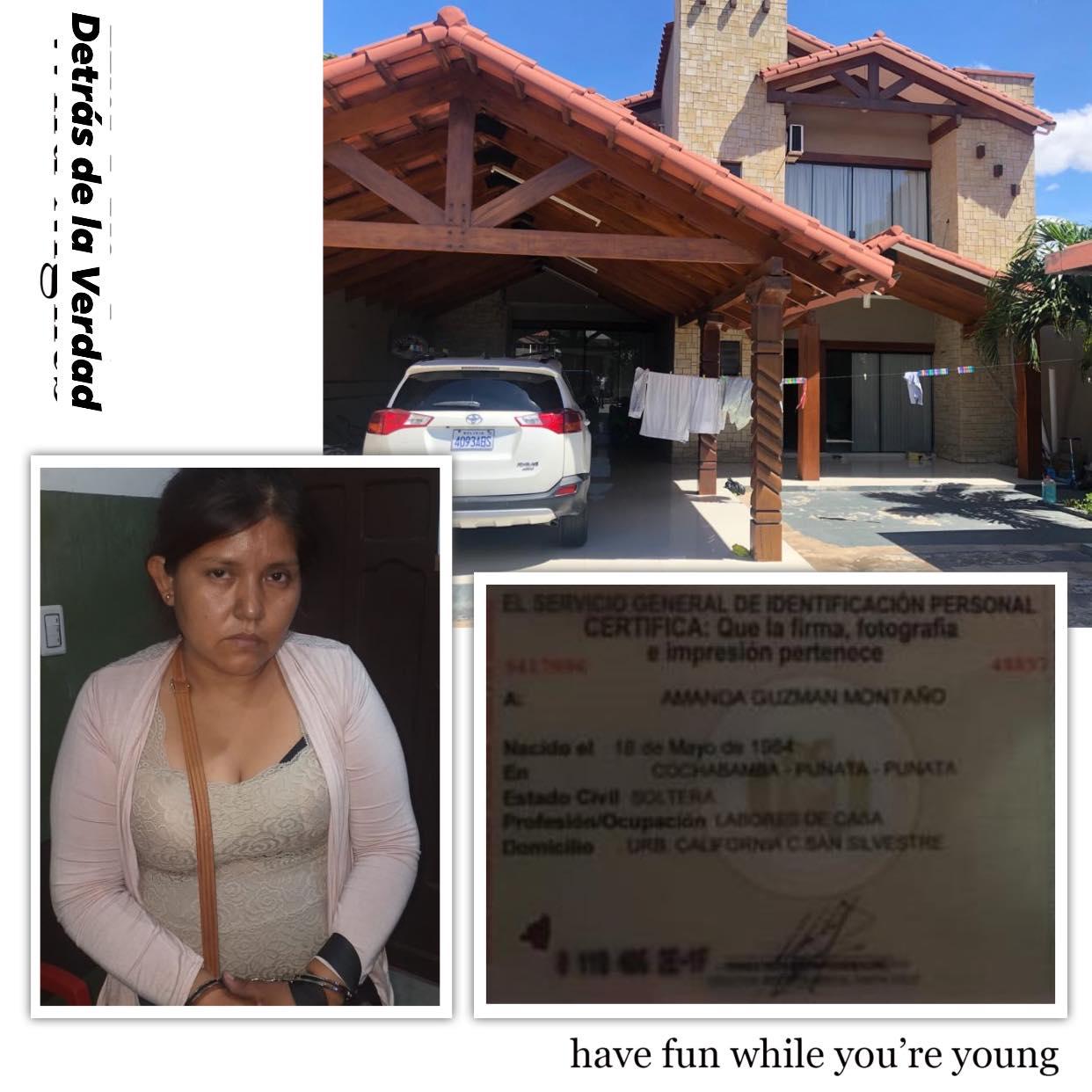 Elva, del clan Terán, vivía en una lujosa casa en Santa Cruz y usaba cédula falsa