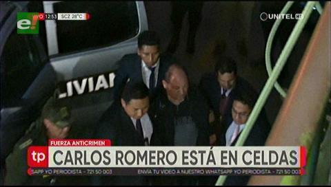 Exministro Romero pasará la noche en celdas policiales de La Paz