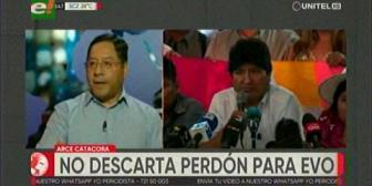 Candidato Luis Arce no descarta un perdón presidencial para Evo Morales