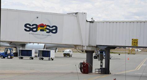Instalaciones de la empresa Servicio de Aeropuertos Bolivianos (Sabsa).