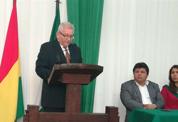 Costas brindó su informe en instalaciones del CEA. Foto Aida Suazo