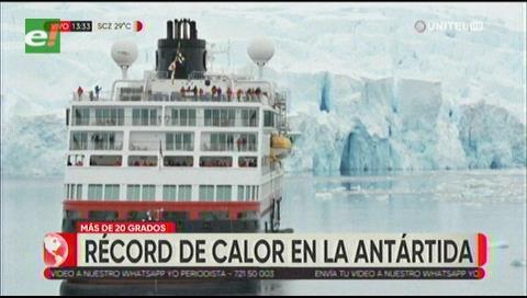 La Antártida bate su récord de temperatura dos veces en tres días al superar los 20ºC