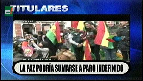 Video titulares de noticias de TV – Bolivia, noche del viernes 14 de febrero de 2020