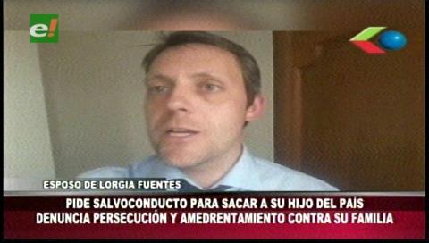 Esposo de Lorgia Fuentes pide un salvoconducto para que su hijo de 6 años pueda salir del país