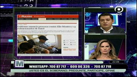 Ministro Coímbra está recabando información para presentar la denuncia contra el exgerente de Entel a la Fiscalía