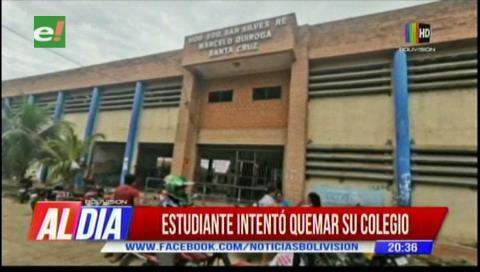 Estudiante intentó quemar su colegio por venganza en Montero