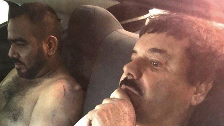 Guzmán Loera luego de su última captura en enero de 2016 (Foto: Cuartoscuro)
