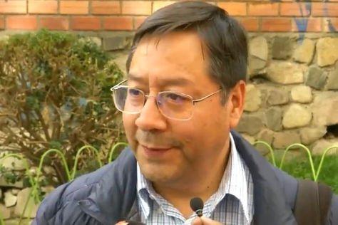 El exministro y candidato presidencia del MAS Luis Arce. Captura de imagen de Telesur