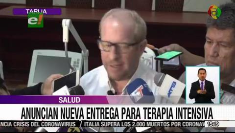 Gobernador de Tarija entregó equipos para el Hospital regional «San Juan de Dios»