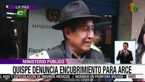 Fondioc: Quispe denuncia que Fiscalía pretende «encubrir» al exministro y candidato del MAS Luis Arce