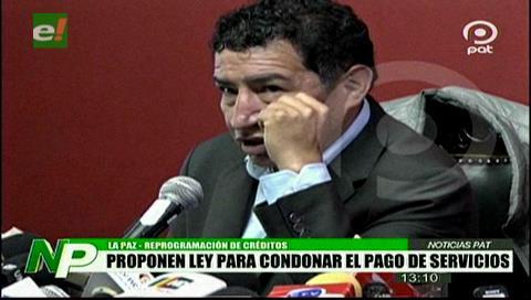 Borda propone ley para reprogramar deudas bancarias y condonación de servicios básicos