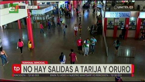 Santa Cruz: La Bimodal suspende salidas de buses a Tarija y Oruro
