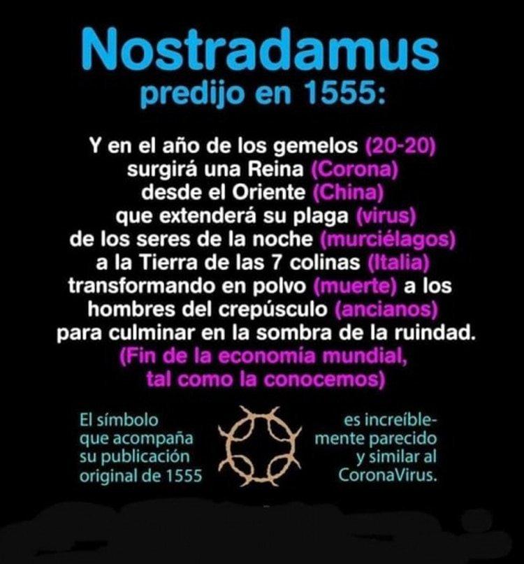 La falsa cita de Nostradamus que probaría que predijo la pandemia de coronavirus