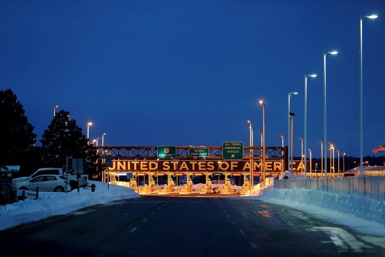 La frontera con EEUU, vista desde Lacolle, Quebec (Reuters/archivo)
