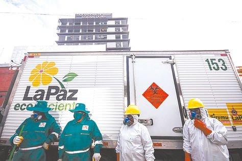 Covid 19. Este es el camión habilitado exclusivamente para residuos de los enfermos.